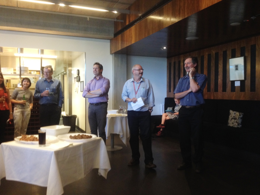 Farewell for Rod Snow and Andrew Dawson from Deakin's School of Exercise and Nutrition Sciences